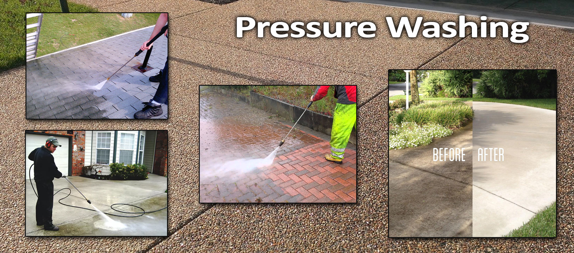 Image result for Types of Pressure Washing Services